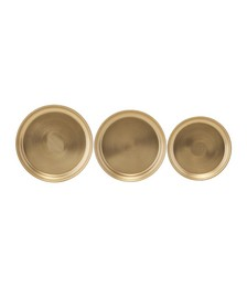 Textured Metal Tray - Set of 3 - Brass