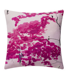 Chinese Tree Cushion - 45x45cm - Pink/Violet