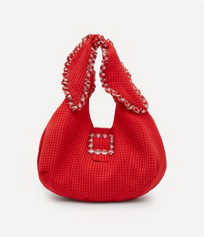 Ellery Frilly Cotton-Blend Shoulder Bag
