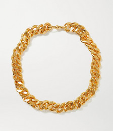 The Dante gold-plated necklace