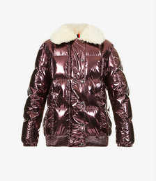 Morville metallic shell-down coat