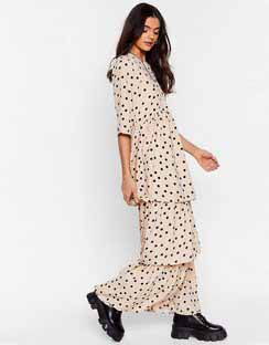 I'm Out of Tier Polka Dot Maxi Dress