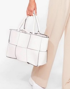 WANT Square Up Woven Tote Bag