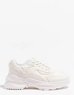 They'll Come Running Faux Leather Chunky Trainers