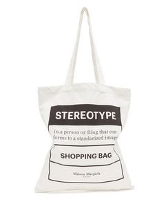 Stereotype-print Cotton-canvas Tote Bag