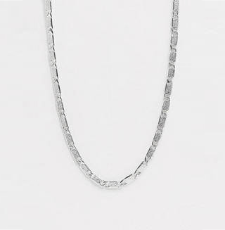 Rectangle Link Neck Chain in Silver