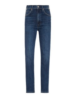 Chrissy Stretch High-Rise Skinny Jeans