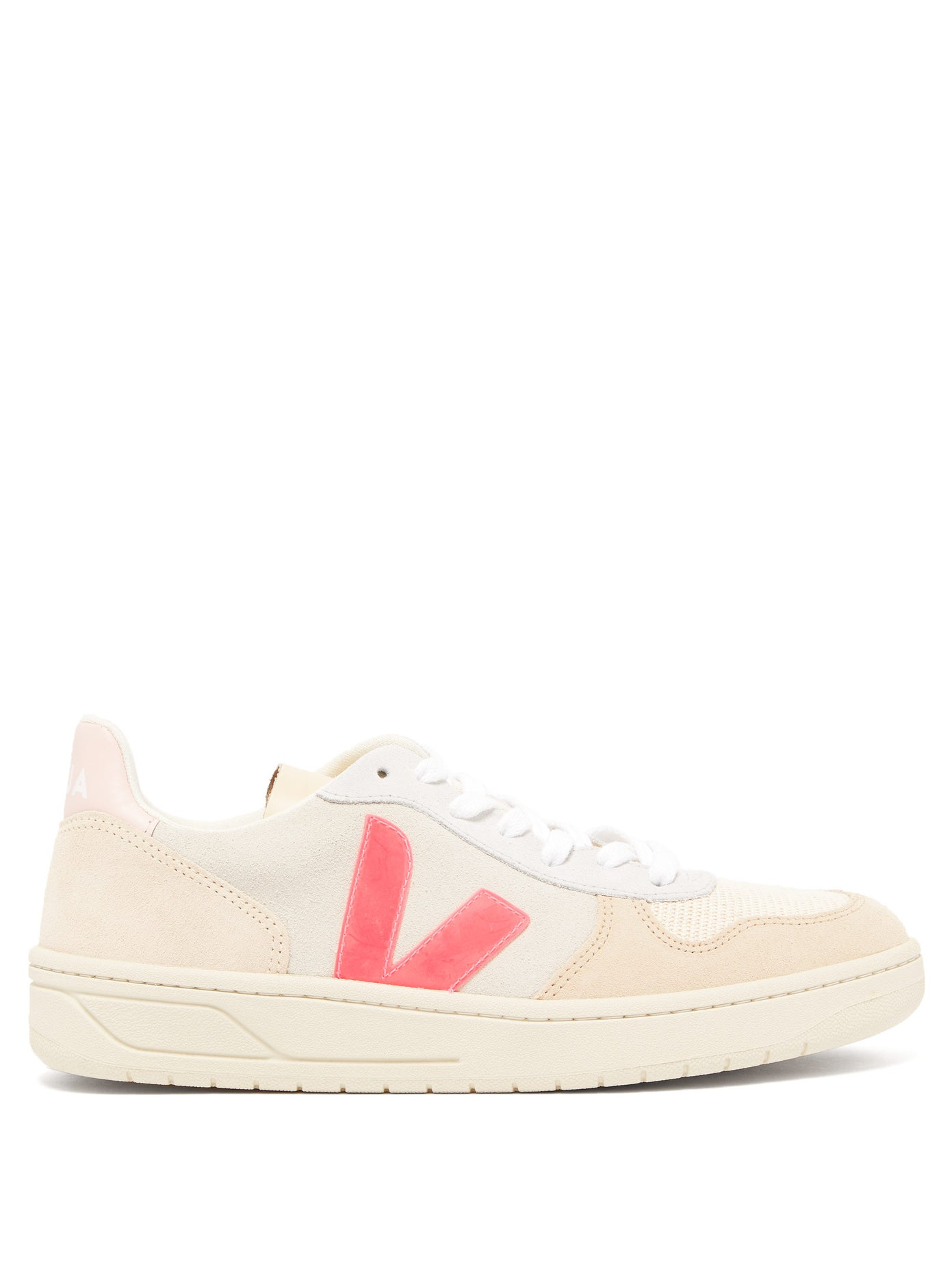 V-10 low-Top Suede & Canvas Trainers