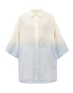 Raj Dip-dyed Cotton-blend Blouse