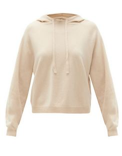 Drawstring Wool-blend Hooded Sweater
