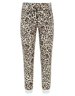Water Leopard-print Technical Cropped Leggings