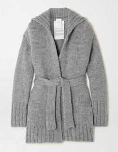 + NET SUSTAIN Belted Organic Wool and Alpaca-blend Cardigan
