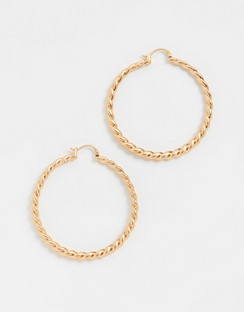Torsade Hoop Earrings