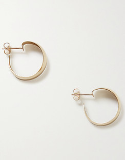 Baby Dome Gold Hoop Earrings