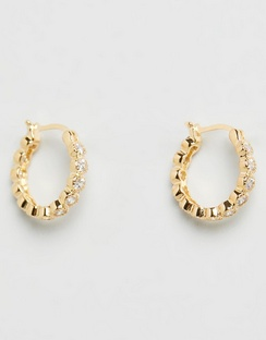 Rococo Gold Hoop Earrings