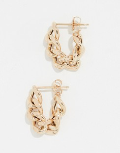 Zoe Chicco 14k Gold Chain Hoop Earrings